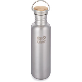 Klean Kanteen Reflect Bottle Bamboo Cap 800ml Brushed Stainless